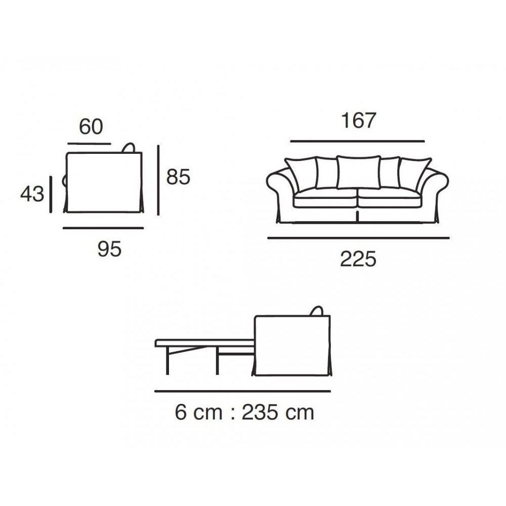 Canapé lit convertible HARRY Matelas BULTEX 143*183*6 cm sommier lattes Ouverture RAPIDO