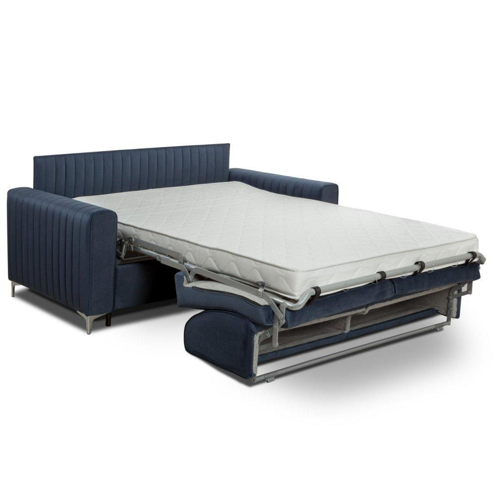 Canapé convertible rapido PRINCE matelas 120cm sommier lattes RENATONISI tête de lit intégrée