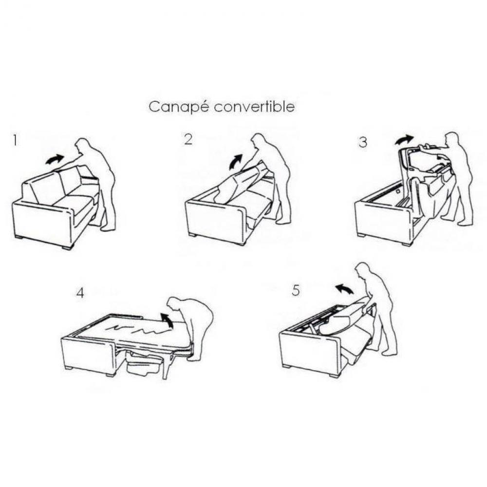 Canapé MAISON convertible 140cm système rapido matelas 16cm  sommier lattes RENATONISI