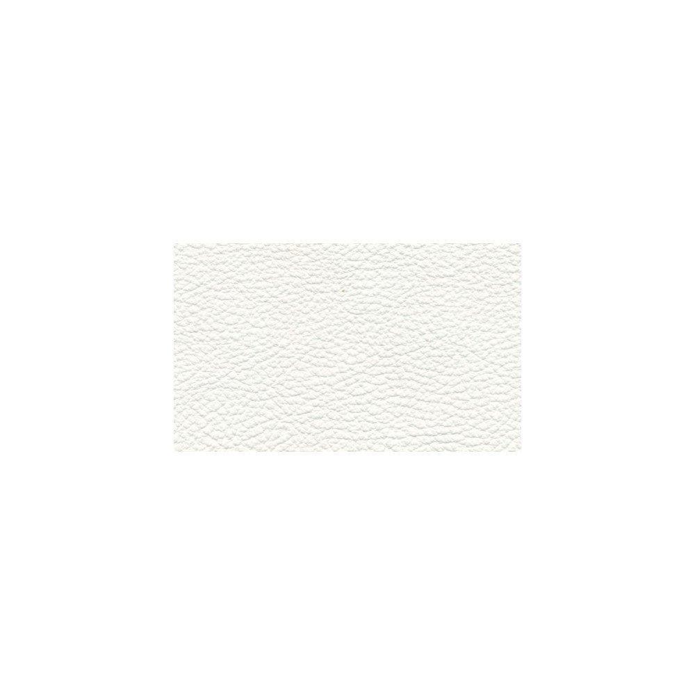 Canapé lit MORELIA convertible 140cm ouverture RAPIDO lattes matelas 15cm cuir vachette recyclé blanc cassé