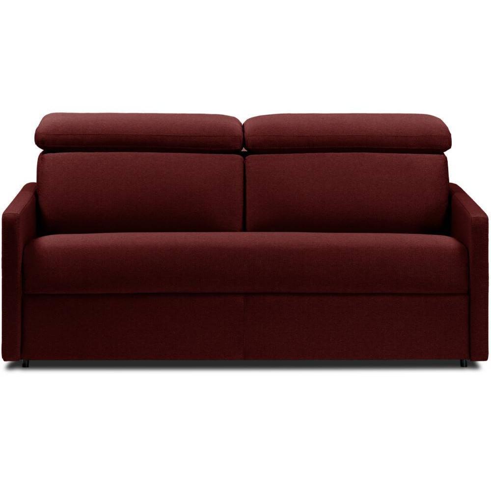 Canapé droit 2 places Noir Tissu Confort