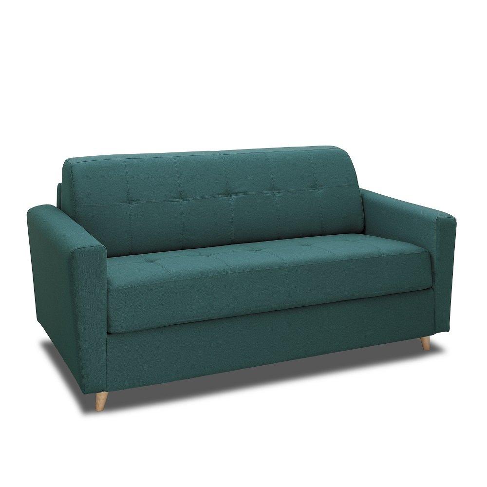 Canapé droit Bleu Tissu Design Confort