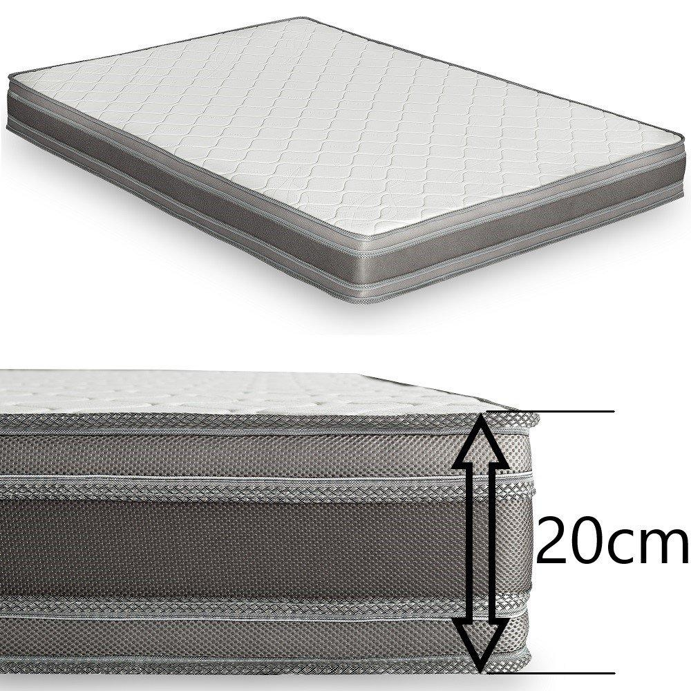 Monaco Matelas Microfibre Canapé Convertible Graphite Mémory Rapido 20cm Lattes 160cm gbyf76