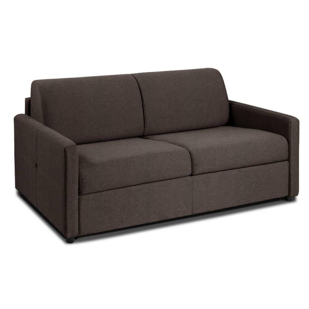 NICE divano 2-3 posti in microfibra marrone sistema letto RAPIDO RENATONISI 120cm rete a doghe materasso 20cm