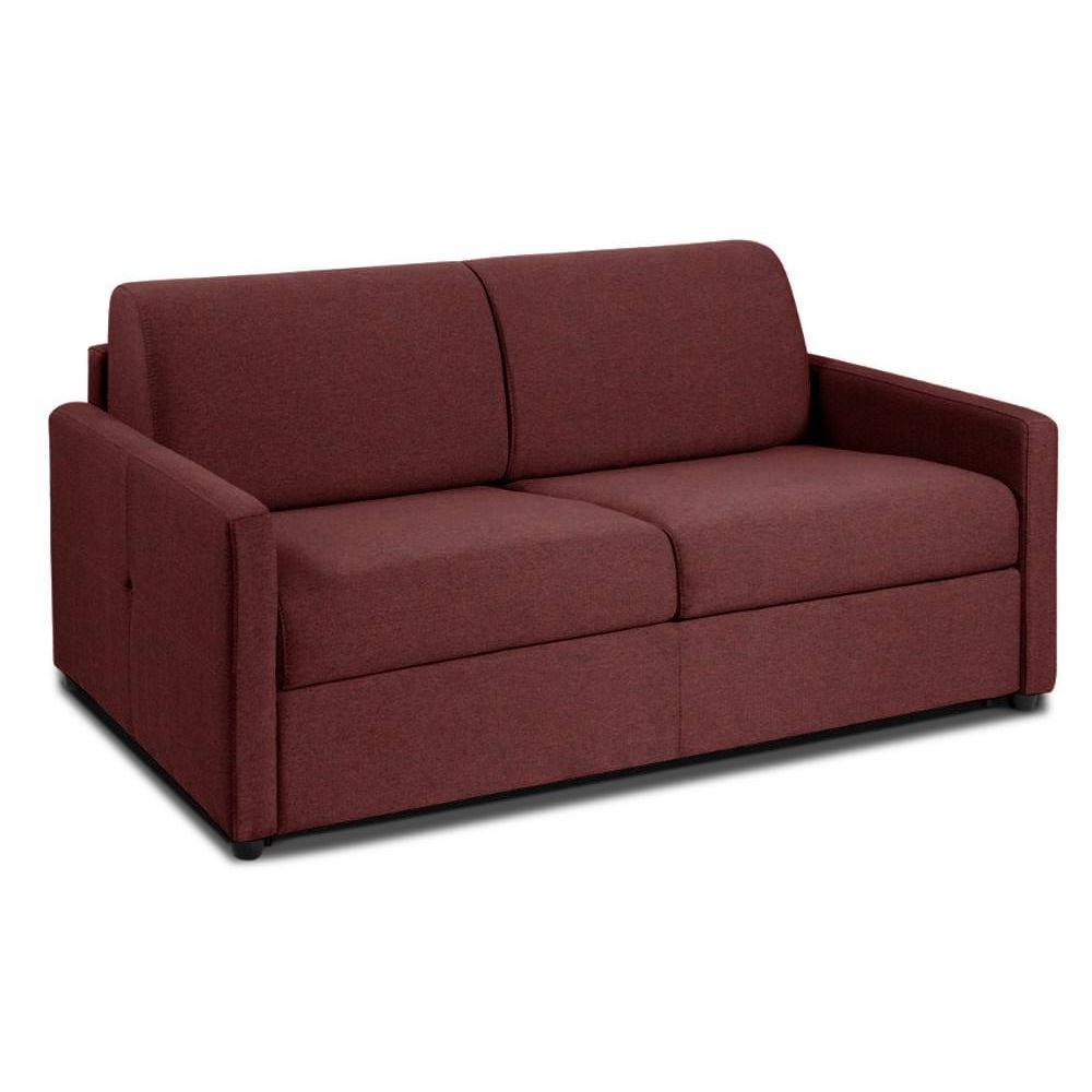 NICE divano 3-4 posti in microfibra bordò sistema letto RAPIDO RENATONISI 160cm rete a doghe materasso 20cm