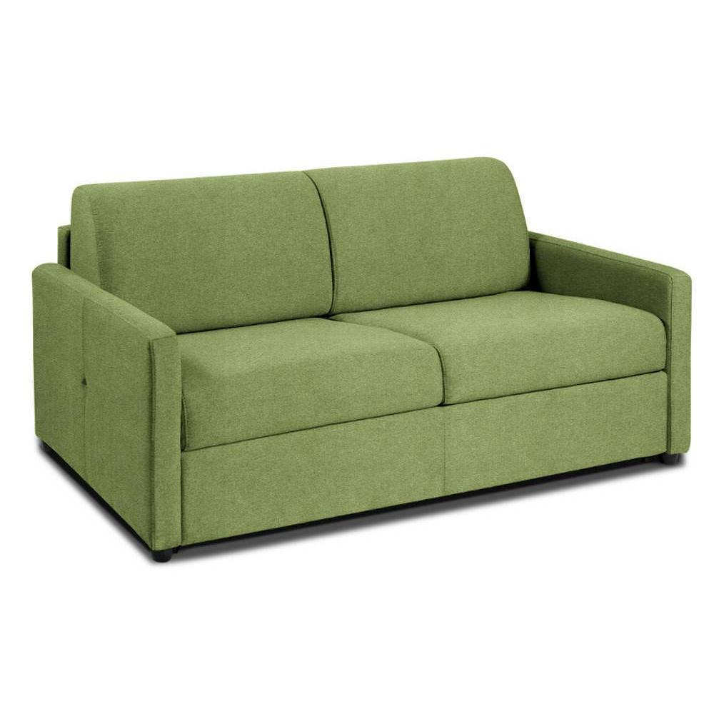 NICE divano 3-4 posti in microfibra verde sistema letto RAPIDO RENATONISI 160cm rete a doghe materasso 20cm