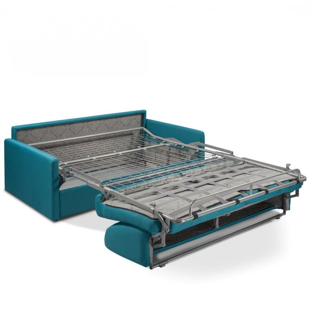 Canapé convertible PARADISO EXPRESS 140cm matelas 14cm bleu paon