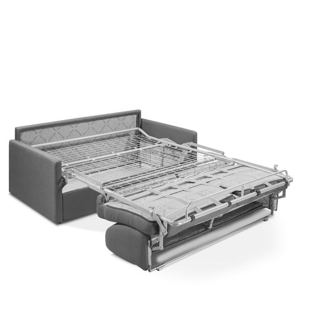 Canapé convertible PARADISO EXPRESS 160cm matelas 14cm gris silver