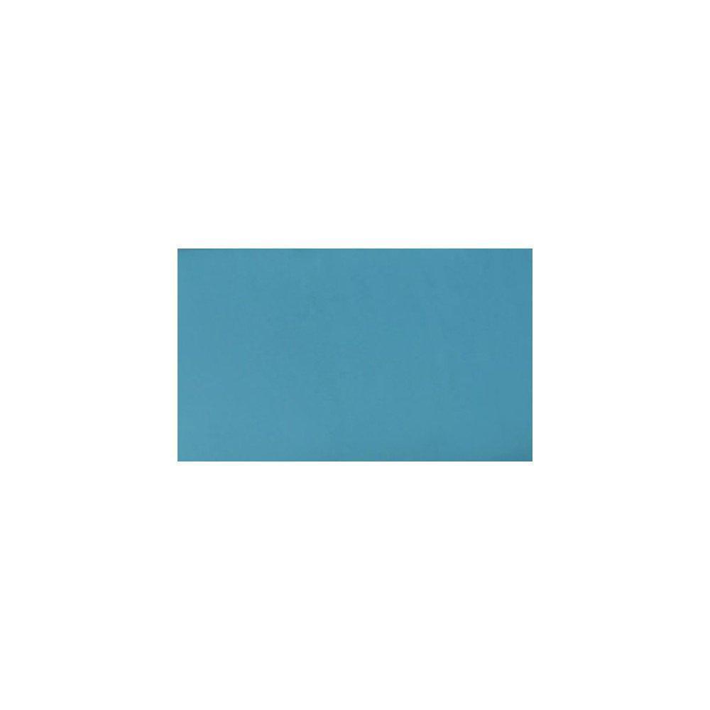 Canapé lit SALTILLO convertible 140cm RAPIDO matelas 15cm structure nubucka blanc et bleu turquoise