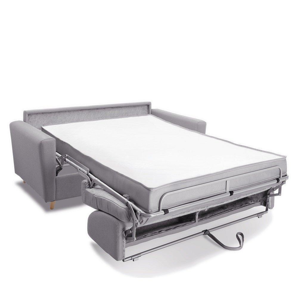 Canapé MEZZANO convertible EXPRESS matelas 16 cm sommier lattes 160 cm