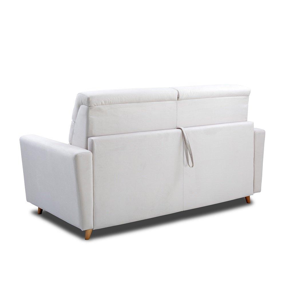 Canapé STORMIO convertible express 140 cm sommier lattes matelas 16 cm dossier haut