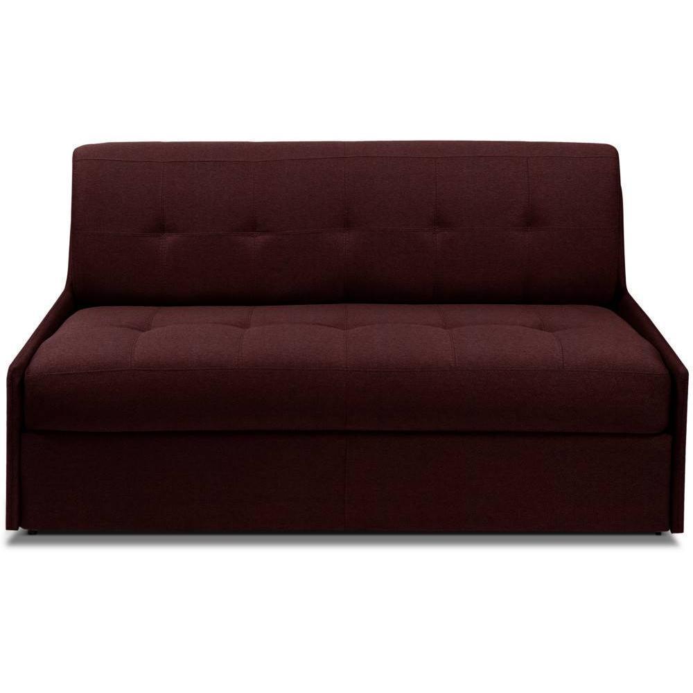 TRIOMPHE divano compatto in microfibra bordò sistema letto RAPIDO RENATONISI 140cm rete a doghe materasso 15cm