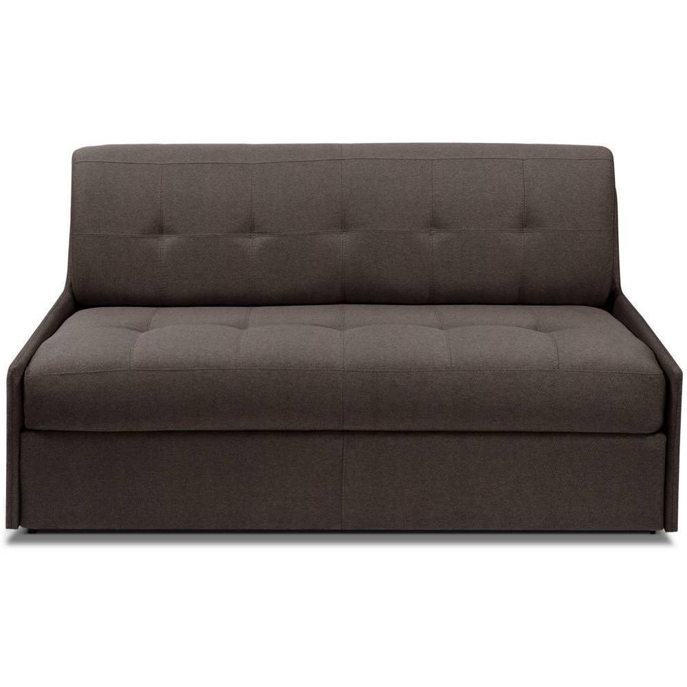 TRIOMPHE divano compatto in microfibra marrone sistema letto RAPIDO RENATONISI 140cm rete a doghe materasso 15cm