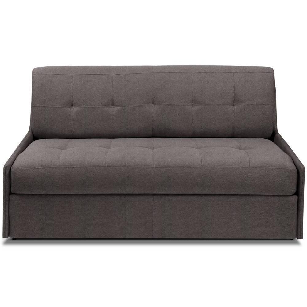 TRIOMPHE divano compatto in microfibra talpa sistema letto RAPIDO RENATONISI 140cm rete a doghe materasso 15cm