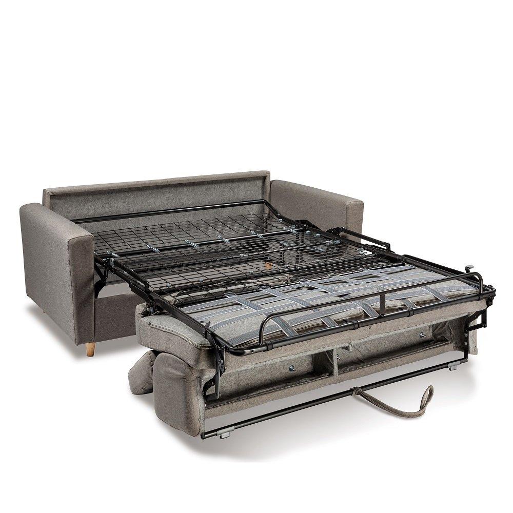 Canapé WAGRAM convertible express matelas 16 cm sommier métal 160 cm têtières ajustables