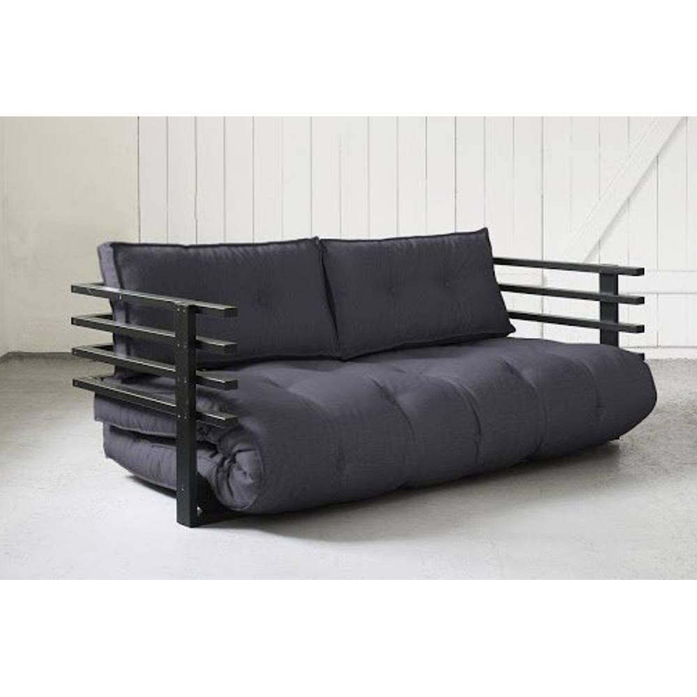 canap convertible au meilleur prix canap convertible noir funk futon grey graphite couchage. Black Bedroom Furniture Sets. Home Design Ideas