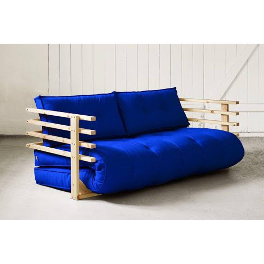 Canap convertible en pin massif funk matelas futon for Canape futon convertible