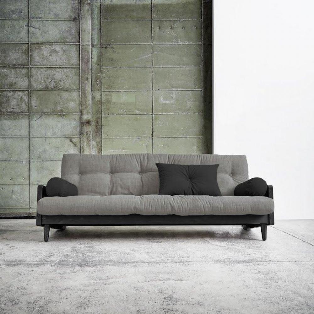 canap banquette futon convertible au meilleur prix canap noir 3 4 places convertible indie. Black Bedroom Furniture Sets. Home Design Ideas