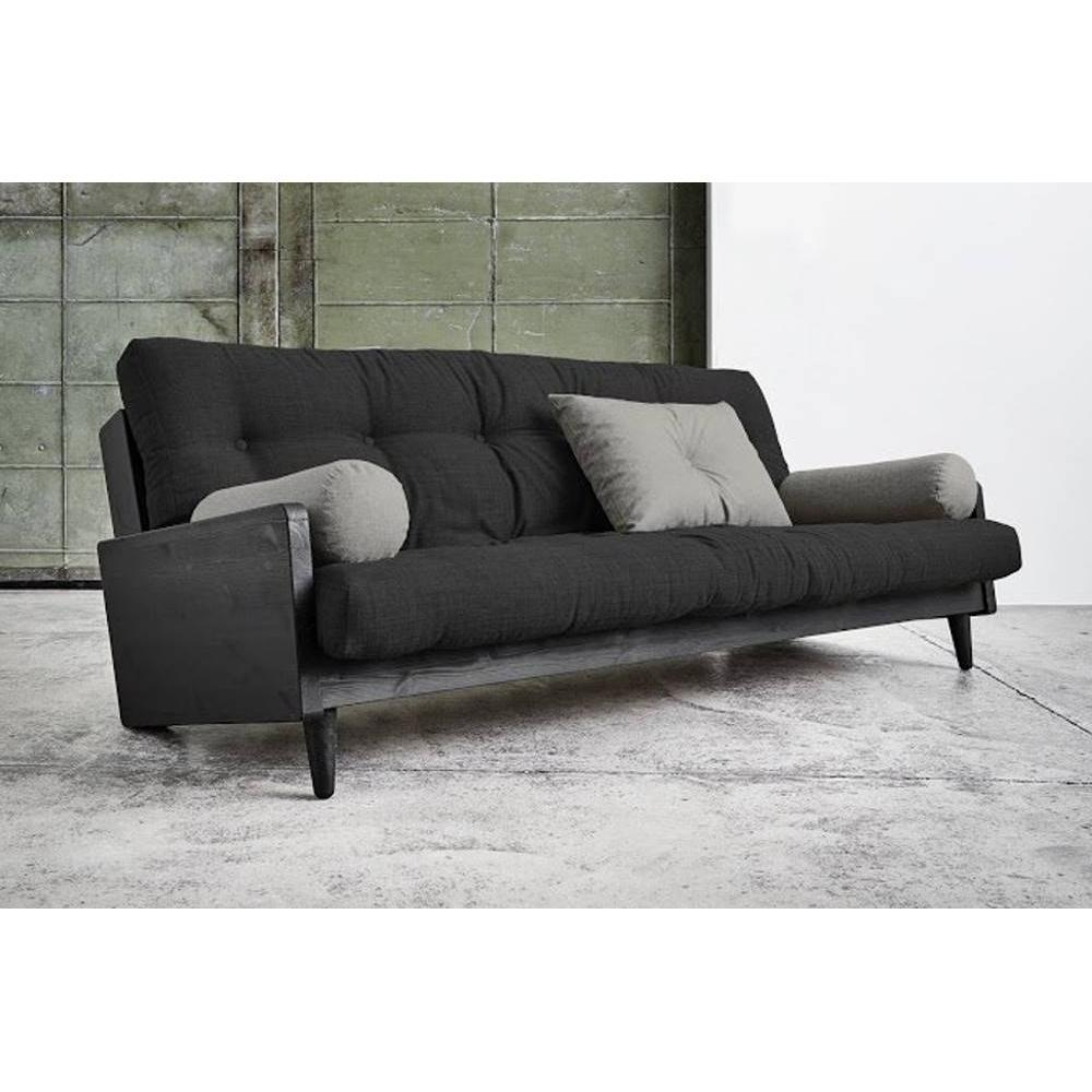 canap banquette futon convertible au meilleur prix canap noir 3 4 places convertible indie. Black Bedroom Furniture Sets. Home Design Ideas