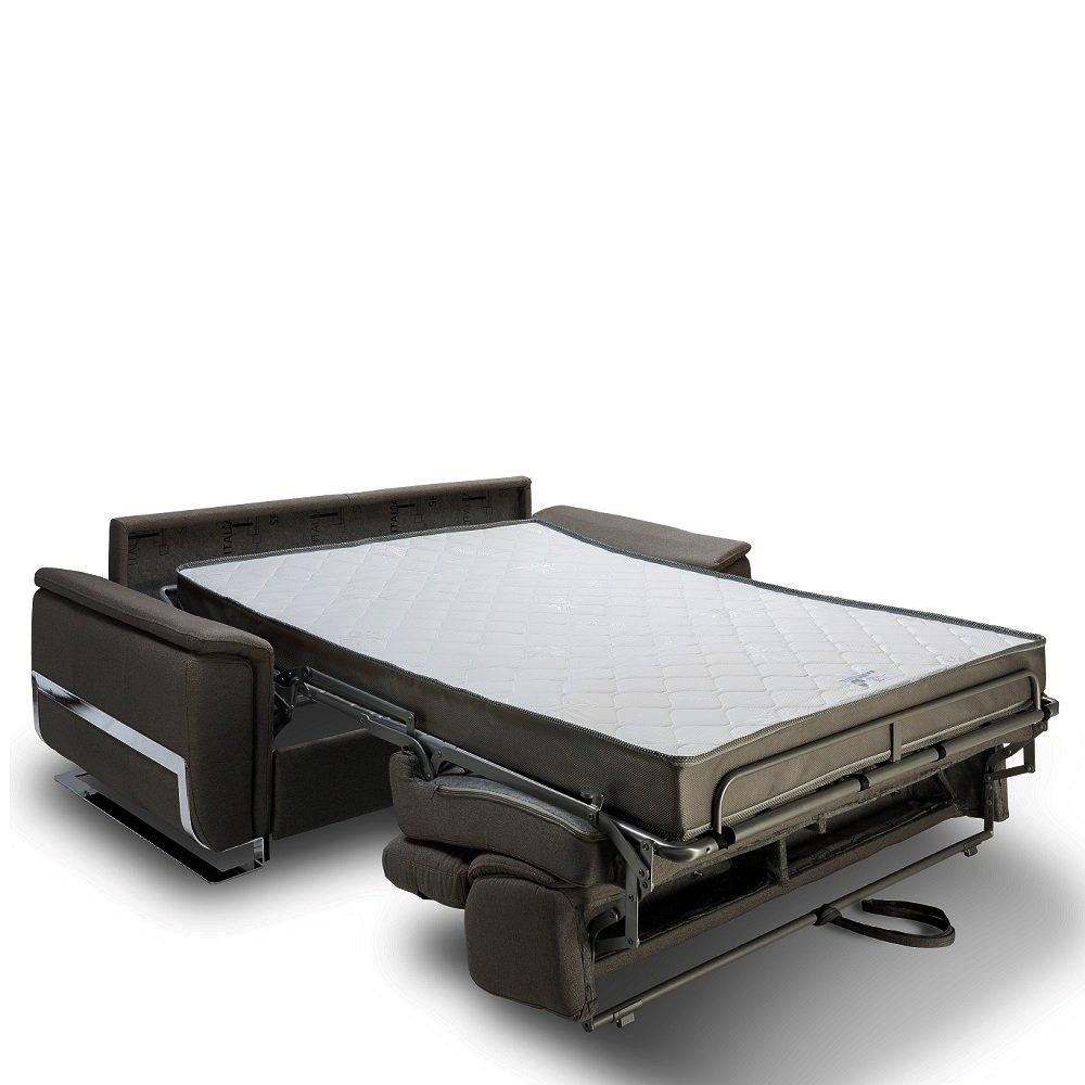 Canapé convertible express REAUMUR 160cm sommier lattes matelas 16cm