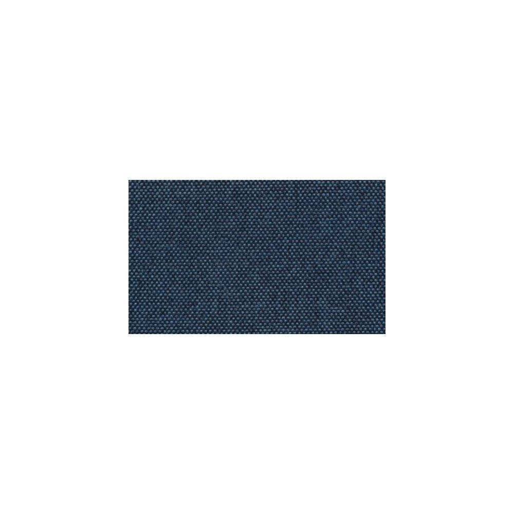 Canapé lit MORELIA convertible 140cm RAPIDO matelas 15cm pvc blanc et tissu tweed bleu