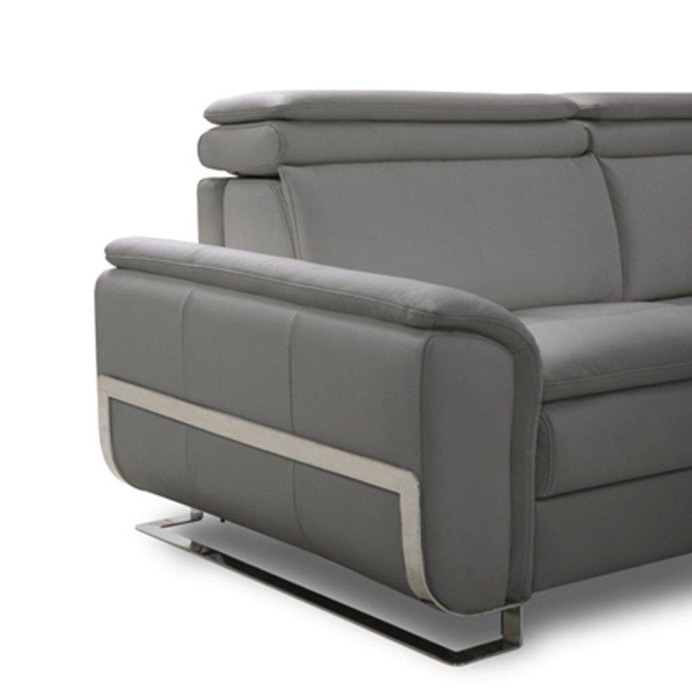 Canapé lit MORELIA convertible 140cm ouverture RAPIDO matelas 15cm tissu nubucka gris souris
