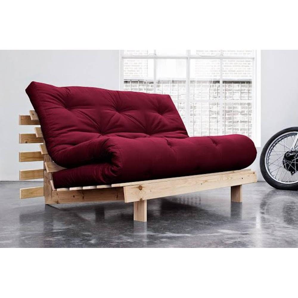 canap convertible au meilleur prix canap bz style scandinave roots natural futon bordeaux. Black Bedroom Furniture Sets. Home Design Ideas