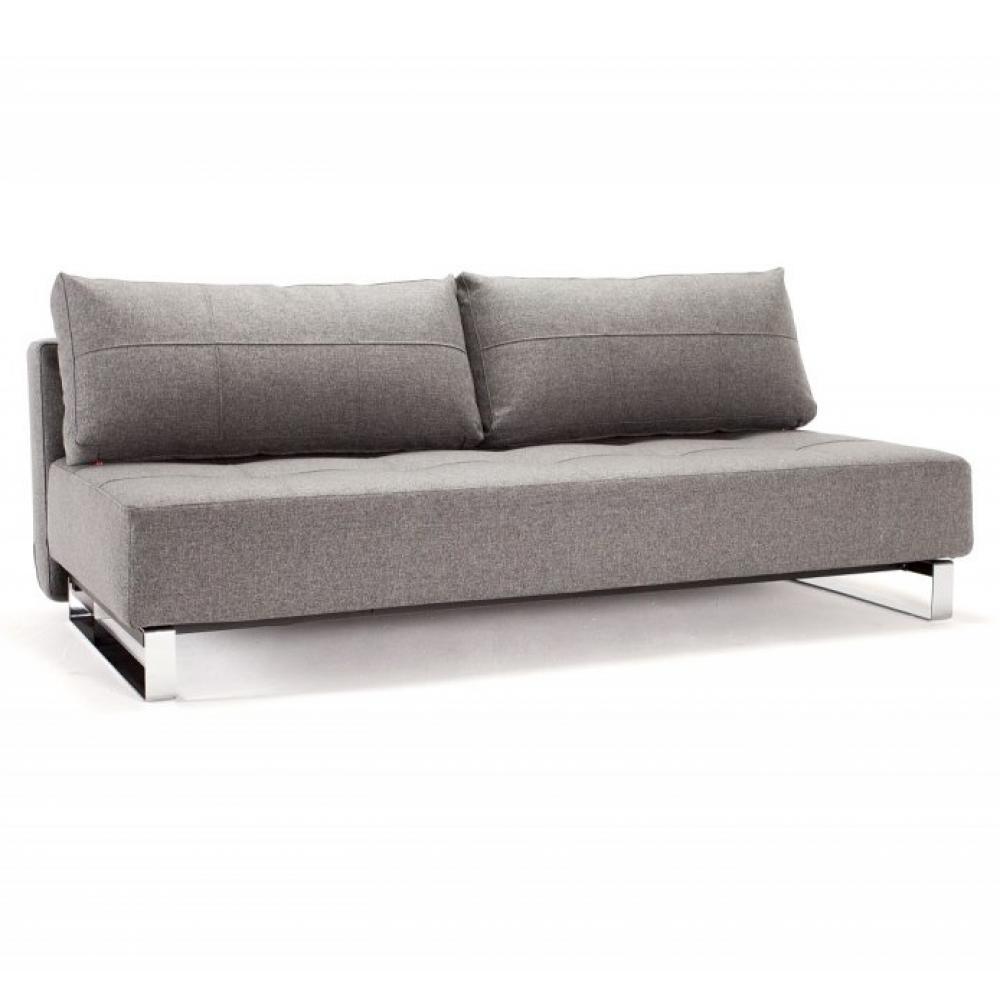 Canapé droit Gris Tissu Luxe Contemporain Confort