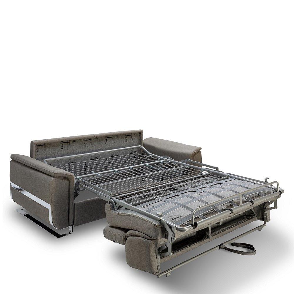 Canapé convertible express REAUMUR 140cm matelas 16cm pieds luge