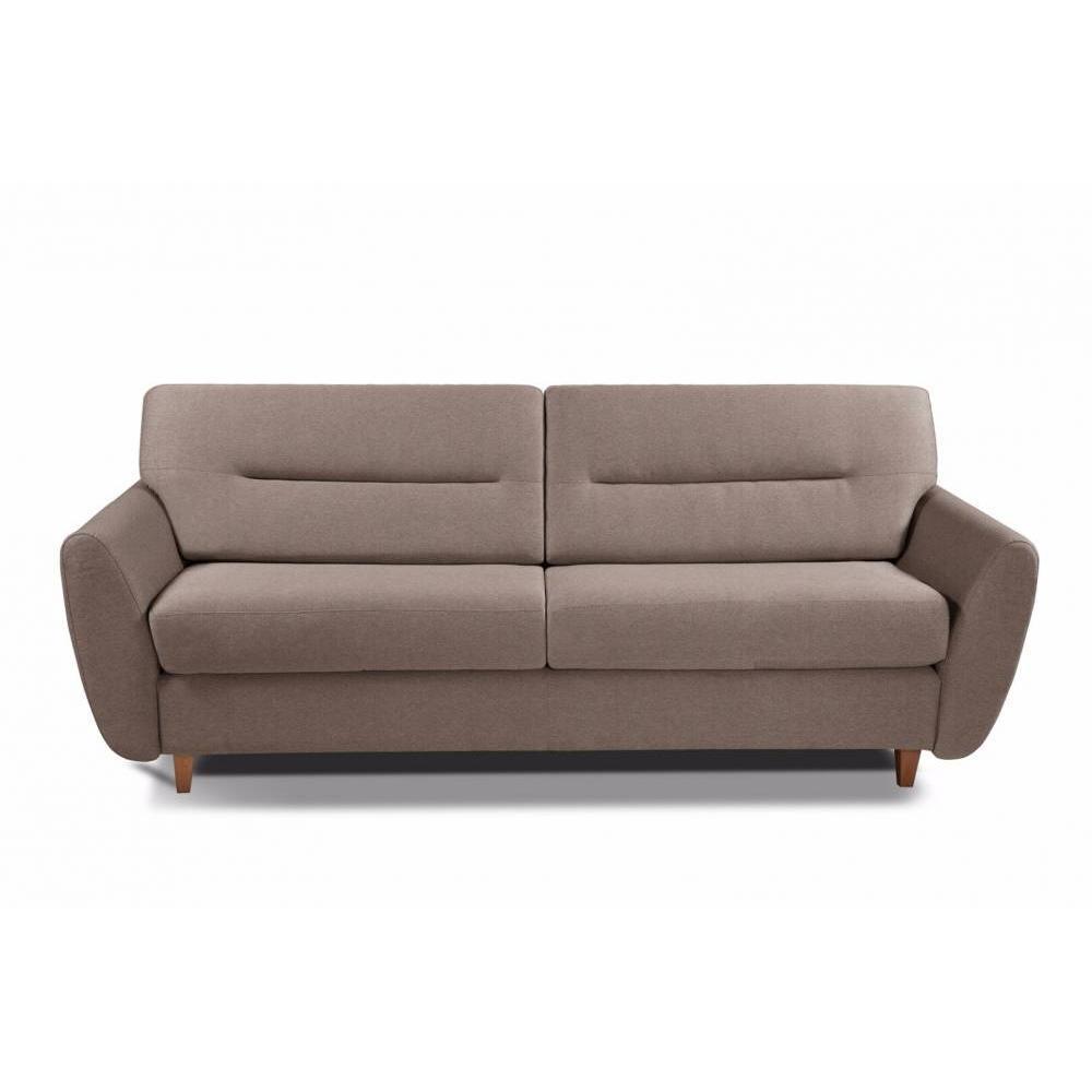 COPENHAGUE divano in tessuto tweed talpa sistema letto RAPIDO 120cm materasso 15cm