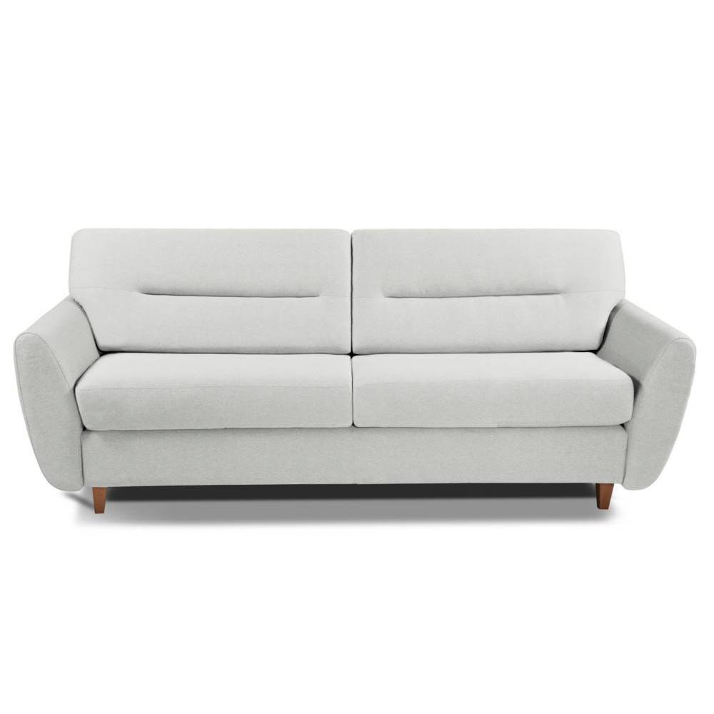 Canapé droit 3 places Blanc Tissu Design Confort