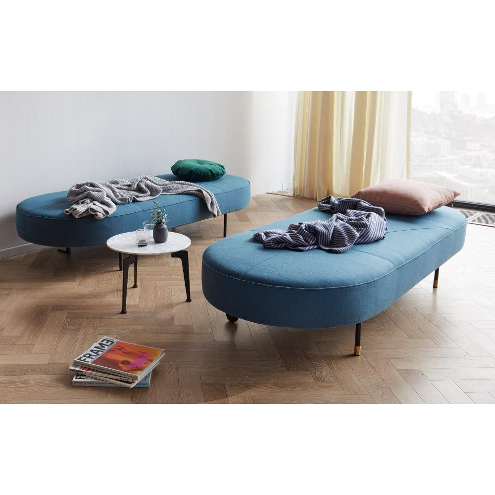 INNOVATION LIVING  Canape design convertible FILUCA tissu Elegance Petrol