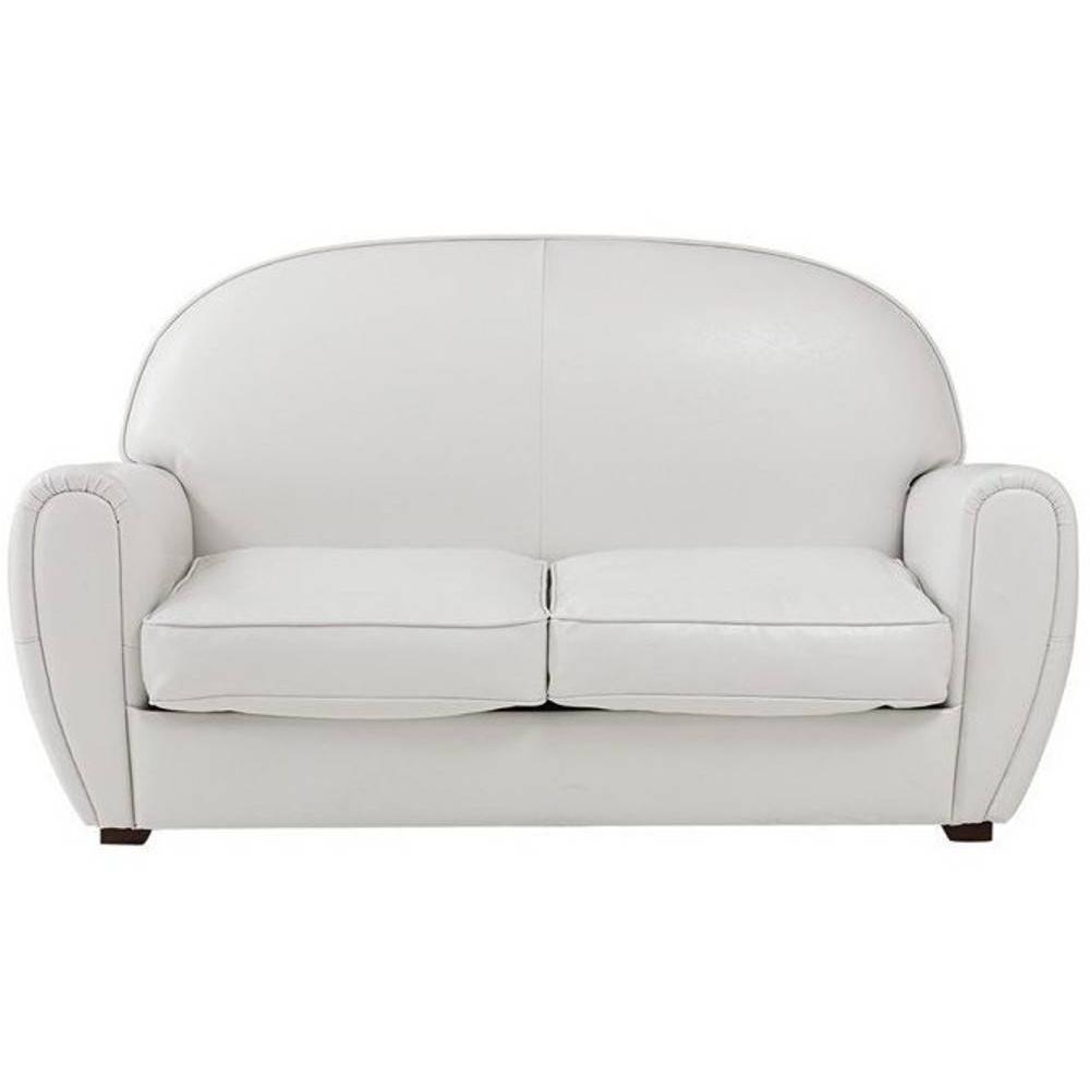Canap club en tissu ou cuir vieilli au meilleur prix for Canape cuir blanc 2 places