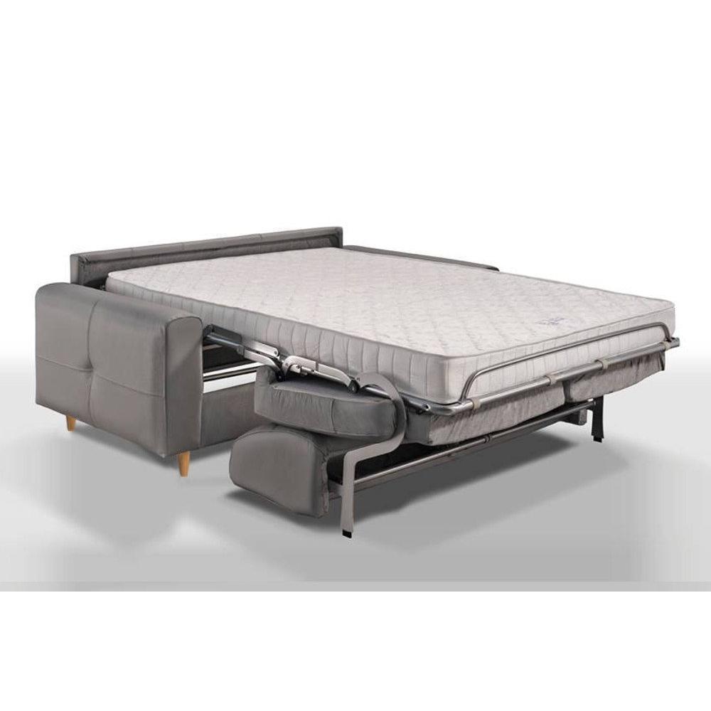 Canapé convertible ALMUT matelas 14 cm système Rapido couchage 120 cm
