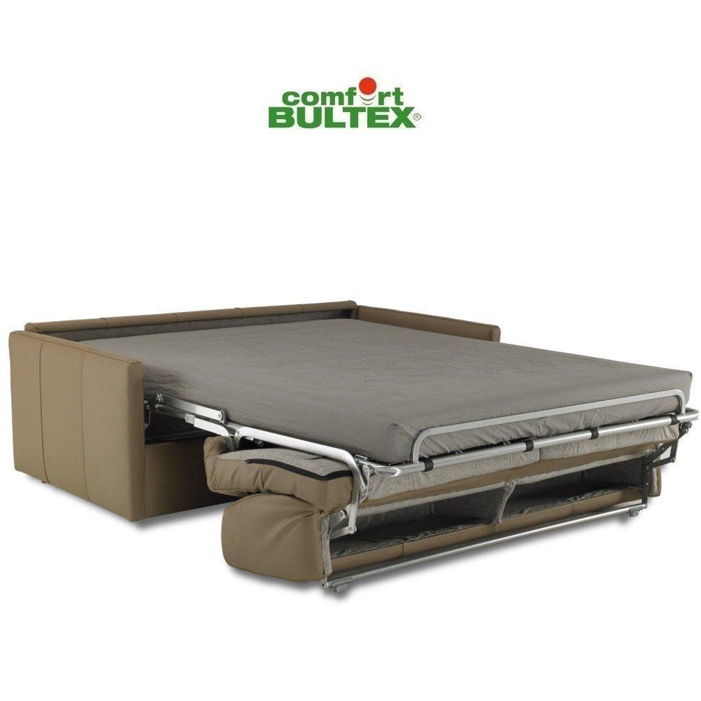 Canapé convertible rapido HILTON matelas 140cm comfort BULTEX® 16cm sommier lattes