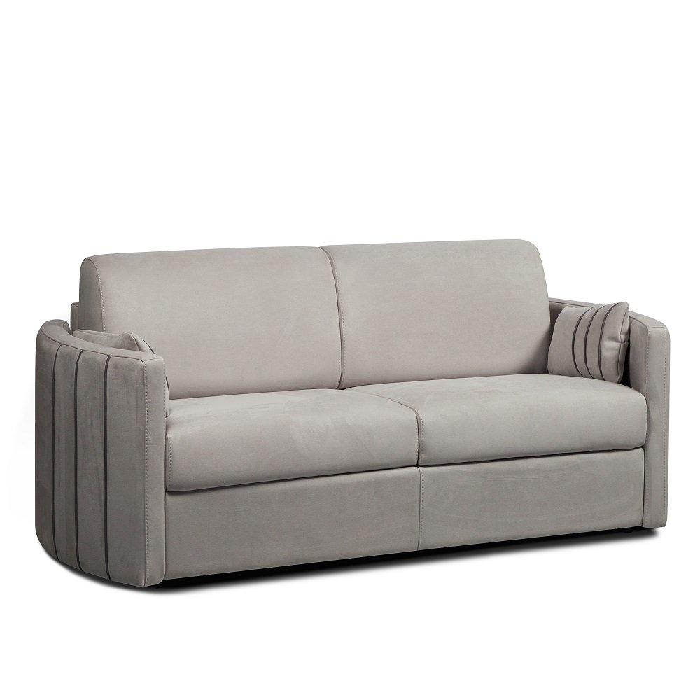 Canapé lit express CAPRI couchage 160 cm sommier lattes matelas 16 cm accoudoirs stylisés