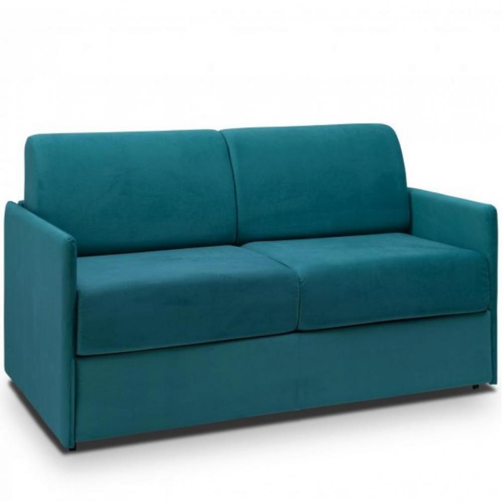Canapé droit Bleu Tissu Confort