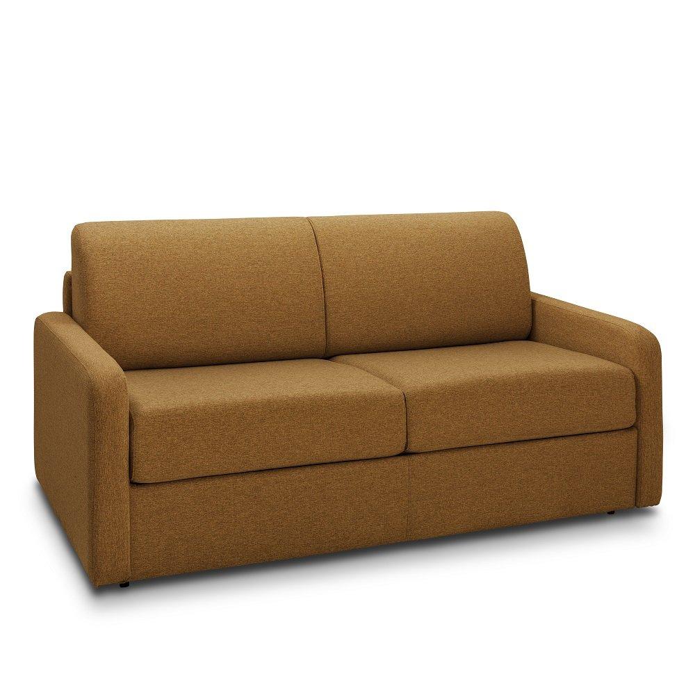 Canapé droit 3 places Jaune Tissu Confort