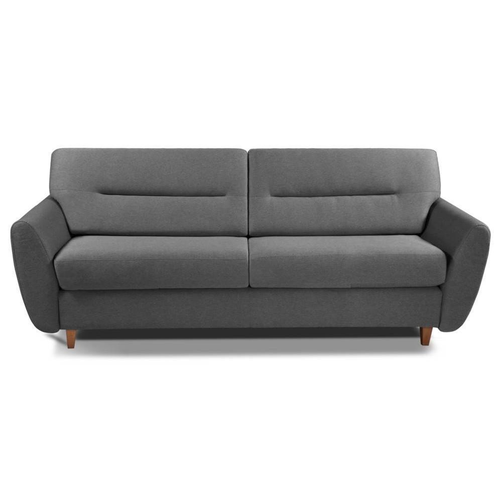 COPENHAGUE divano in microfibra grafite sistema letto RAPIDO 120cm materasso 15cm