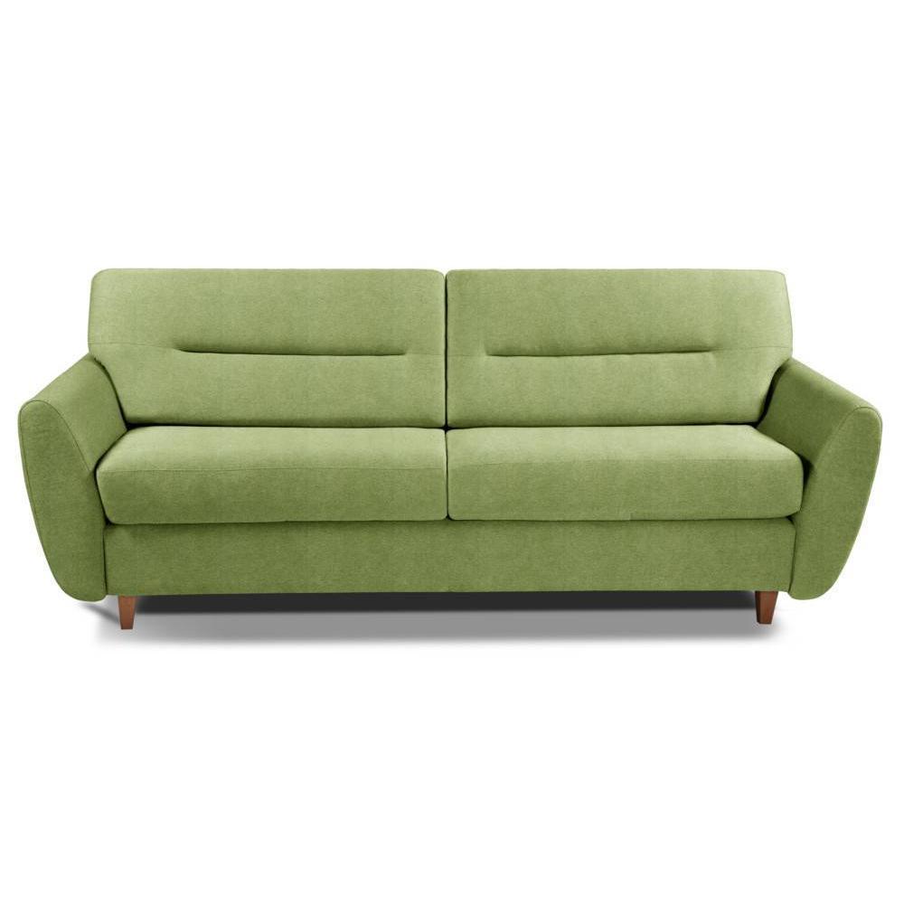 COPENHAGUE divano in microfibra verde sistema letto RAPIDO 120cm materasso 15cm