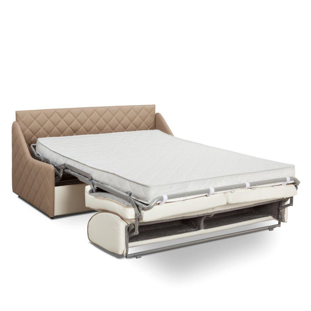 Canapé convertible rapido SAINT HONORE matelas 160cm comfort BULTEX® 16cm sommier lattes et tête de lit intégrée
