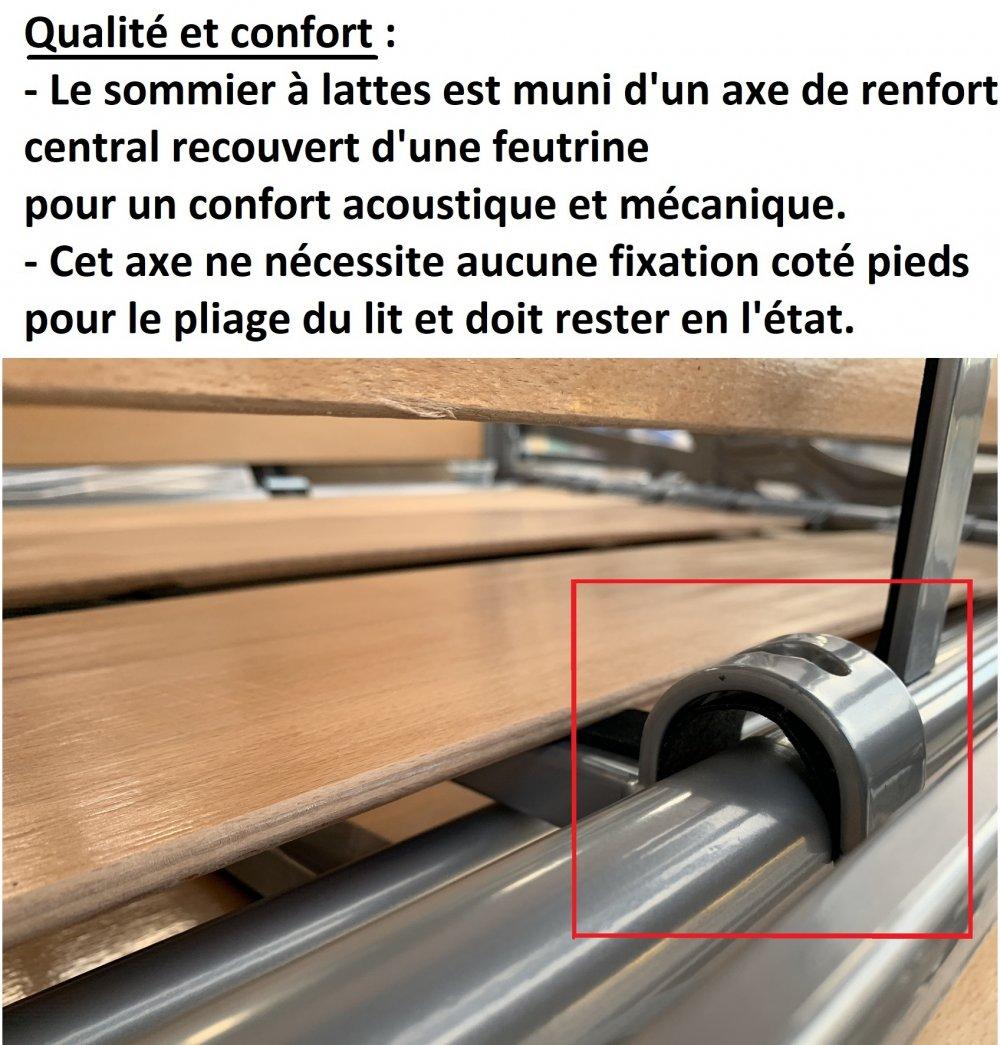 Canapé convertible rapido VENDOME matelas 140cm comfort BULTEX® 16cm sommier lattes RENATONISI et tête de lit intégrée