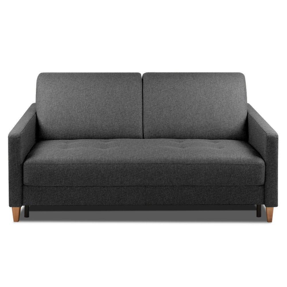 Canapé droit 3 places Gris Tissu Design Confort