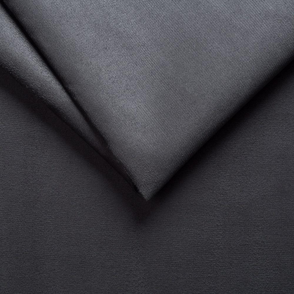 Canapé convertible RAPIDO SCANDINAVE 140cm matelas 14cm microfibre gris graphite