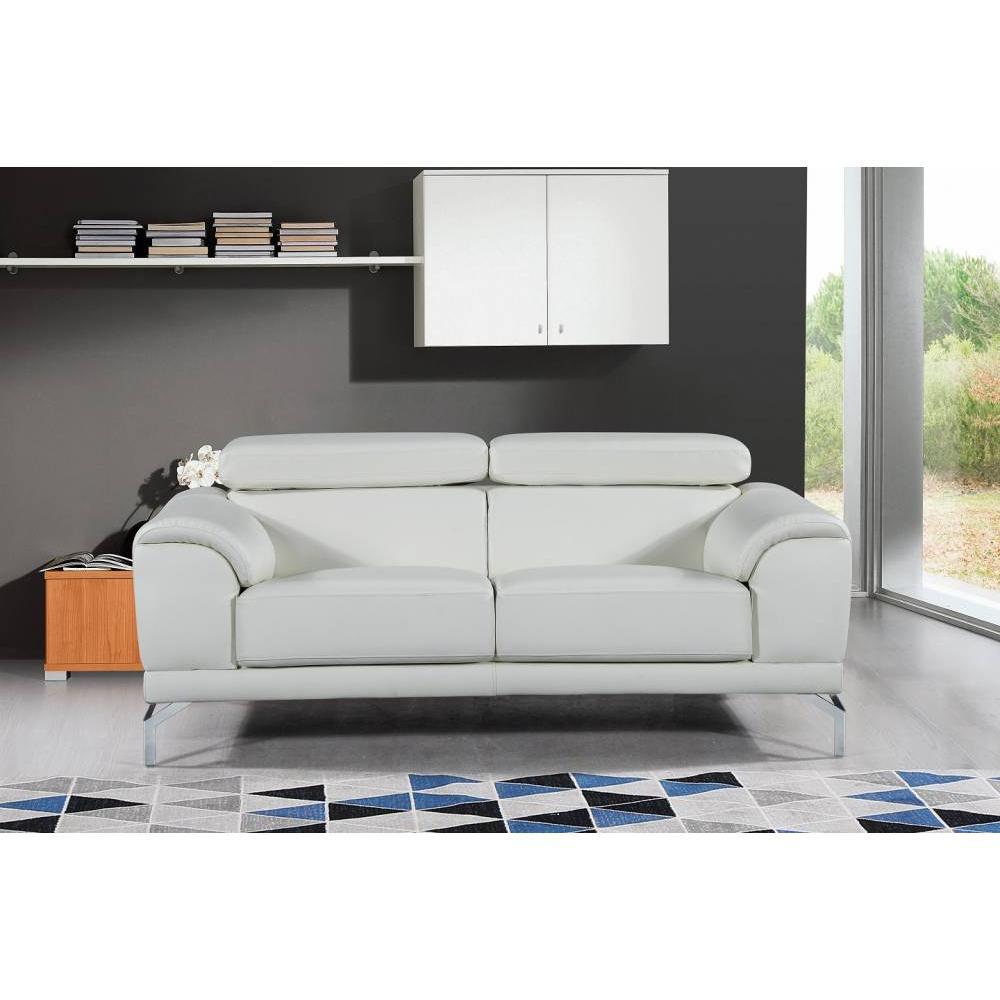 canap fixe confortable design au meilleur prix canap 2 places en cuir bassona inside75. Black Bedroom Furniture Sets. Home Design Ideas
