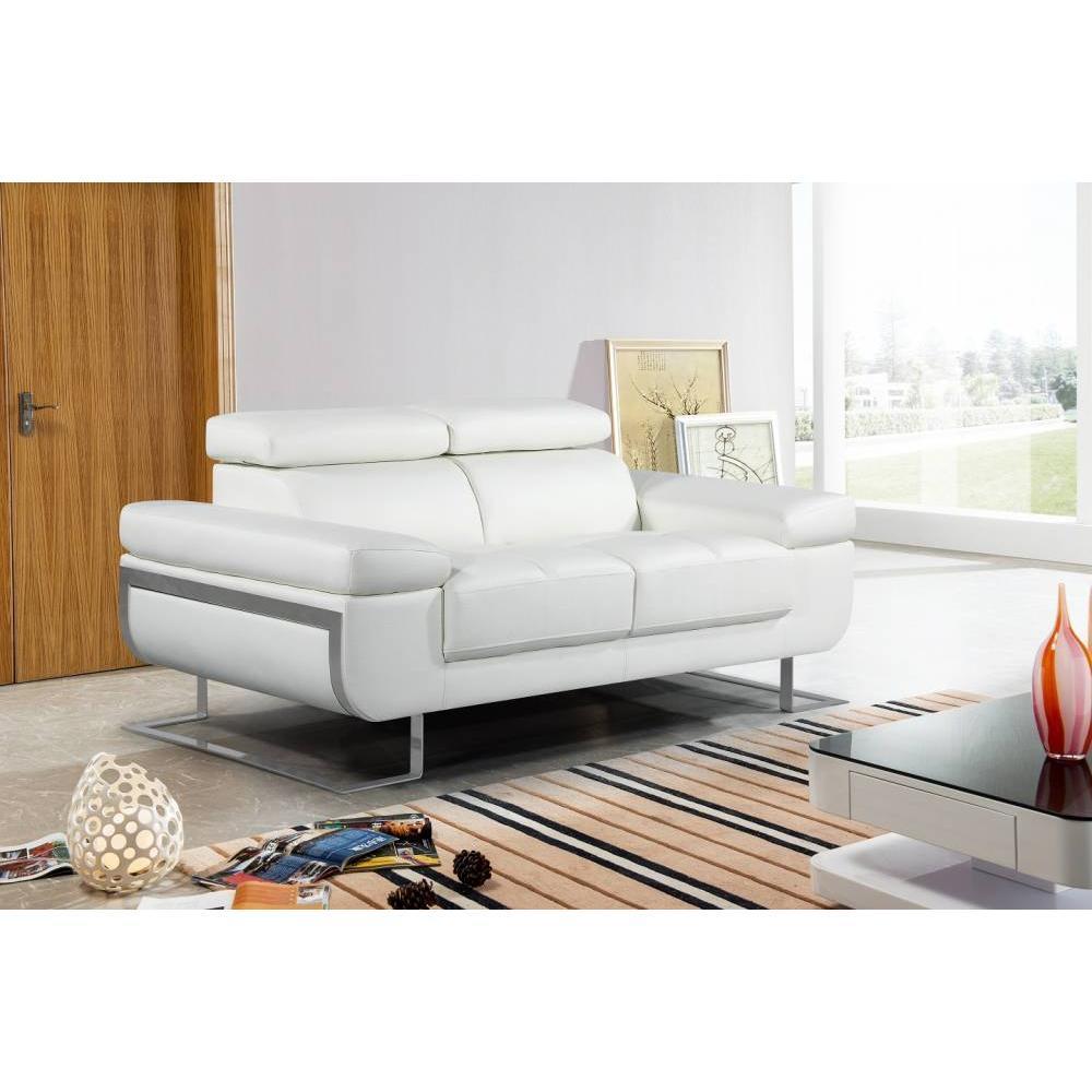canap fixe confortable design au meilleur prix canap 2 places en cuir fratta inside75. Black Bedroom Furniture Sets. Home Design Ideas