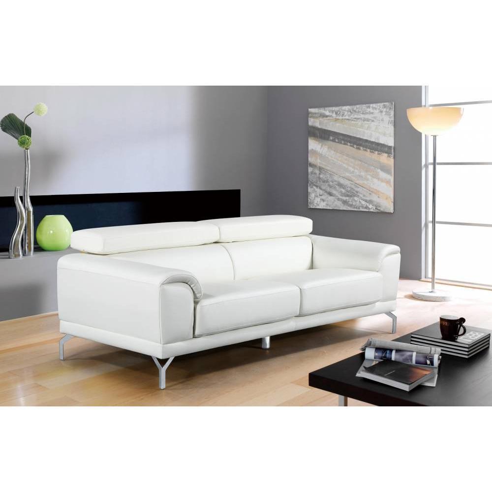canap fixe confortable design au meilleur prix canap 3 places en cuir bassona inside75. Black Bedroom Furniture Sets. Home Design Ideas