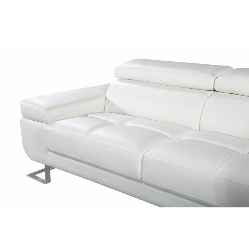 Canap fixe confortable design au meilleur prix canap 3 places en cuir fratta cuir vachette - Canape blanc casse ...