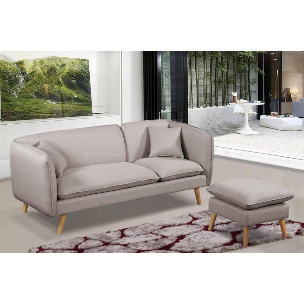 canap fixe confortable design au meilleur prix canap mima 3 places plus pouf modulable en. Black Bedroom Furniture Sets. Home Design Ideas