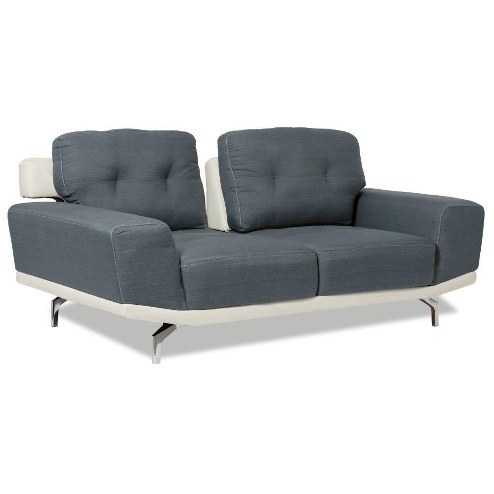 Canap fixe confortable design au meilleur prix canap - Canape capitonne gris ...